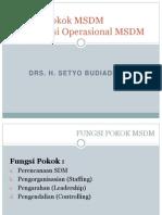 3 Fungsi pokok MSDM (Manajemen Sumber Daya Manusia)