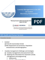 Custody Management in the NYC Jail System