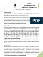 Emerging Trends in Marketing