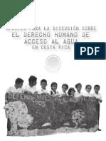 Aportes para la discusion del Derecho Humano Acceso al Agua en Costa Rica