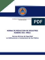 Norma de Reduccion de Desastres Nrd2