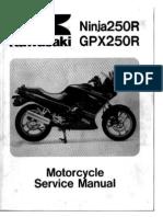 download now ninja 250r 250 ex250 gpx250r 88 07 service repair workshop manual