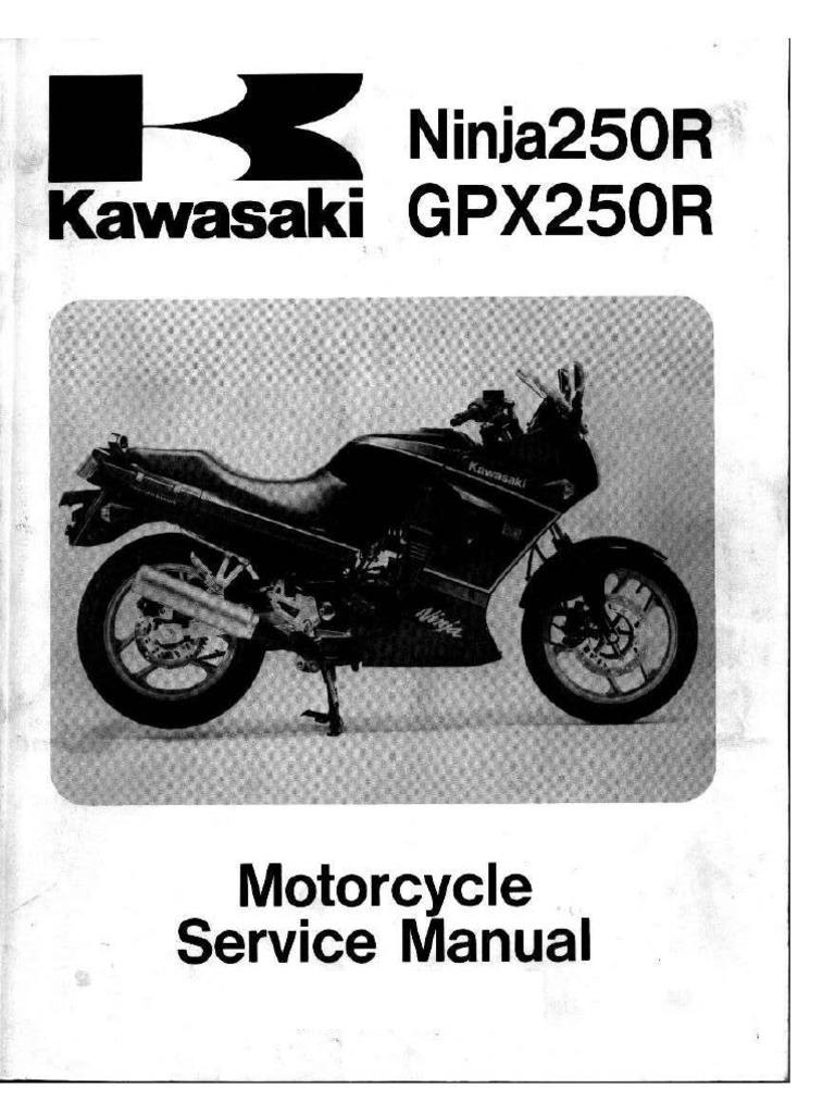 kawasaki ninja 250 manual mechanical engineering machines rh scribd com 2013 Kawasaki Ninja 250R 2013 Kawasaki Ninja 250R