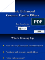 Investigation into Fabric-Enhanced Ceramic Candle Filters