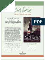 Black Spring by Alison Croggon - Author's Note