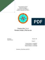 Riel de aire y pendulo simple (Lab de fisica)