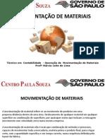 MOVIMENTAÇÃO DE MATERIAIS  - INTRODUÇÃO - PARTE 1