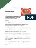 Gazpacho Receta De Gazpacho Andaluz Panes Alimentos