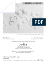 Isabelle d Assignies Dossier de Presse JARDINS