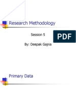 Research Methodology -Session 5
