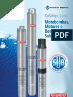 Catálogo Geral Motobombas, Motores e Bombeadores Submersos