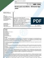 NBR 13964 - Moveis Para Escritorio - Divisorias - Classificacao e Caracteristicas Fisicas e Dimen