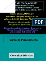 Curso de Planejamento do Professor Alcenir Oliveira, Instituto Cristão de Treinamento de a Atlanta, 2007