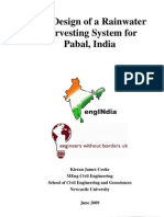 The Design of a Rainwater Harvesting System for Pabal, India