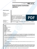 NBR 14715 - Chapas de gesso acartonado - Requisitos.pdf