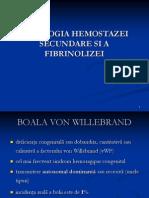 Patologia Hemostazei Secundare Si Fibrinolizei Carmen