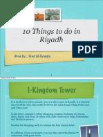 10 Things to do in Riyadh