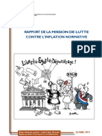 Rapport Inflation Normative