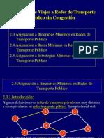 Modelos de asignación de viajes a redes de transporte público