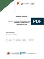 Ing Conceptual. Unidades Habitacionales. Mc Gas Comunal