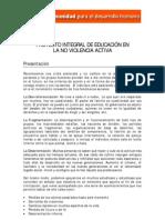 Proyecto Integral de Educacion – No Violencia Activa_La Comunidad