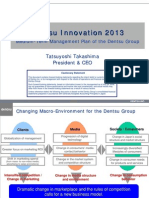 Dentsu Innovation 2013 Medium-Term Management Plan of the Dentsu Group ...