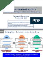 Dentsu Innovation 2013 Medium-Term Management Plan of the Dentsu Group ...