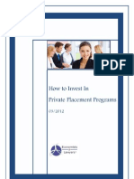 New E-Book .How to Invest in Private Placement Programs
