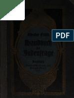 Fritsch, Theodor - Handbuch Der Judenfrage (26. Auflage 1907, 456 S., Scan, Fraktur)