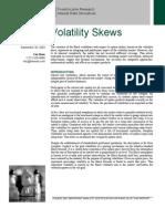 Volatility Skews