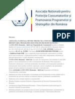 A.N.P.C.P.P. - Asociatia Nationala pentru protectia consumatoriilor si promovarea programelor si strategiilor din Romania
