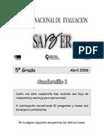 Cuadernillo 1 Quinto B 2006