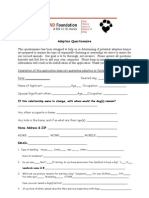 STAND Foundation Adoption Application