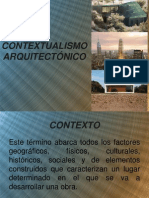 CONTEXTUALISMO ARQUITECTÓNICO