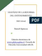 Spinoza ' Tratado de La Reforma Del Entendimiento