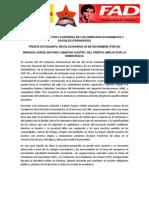 Saludo del FER 29 - FRENADESO - FAD Panamá al MIR - Marzo de 2013