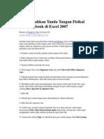 Menambahkan Tanda Tangan Fisikal Ke Workbook Di Excel 2007
