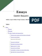 Baquero Gaston - Ensayo