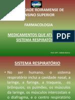medicamentos que atuam no sistema respiratório