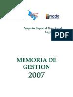 Memoria Institucional 2007