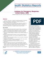 Hospital Preparedness for Emergency Response