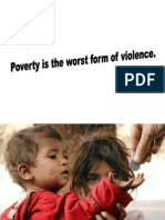 Poverty - worst form of violence