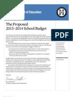 Hoboken Schools 2013-2014 Budget Overview