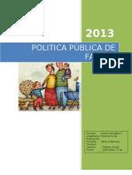 POLITICA PÚBLICA DE FAMILIA