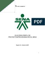 Guia Para Perfil de Proyectos - Programas Sena Dr Luis Ernesto Duran