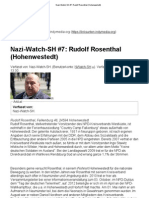 Nazi-Watch-SH #7 Rudolf Rosenthal (Hohenwestedt)