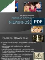Odebrać dzieciom niewinność prezentacja