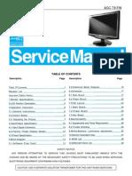 AOC TFT-LCD Color Monitor 731FW Service Manual