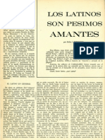Los latinos son pesimos amantes.Fíipica. Marzo 1966.