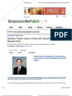 2013-03-15-WesleySwilling-SimpsonvillePatch-Solicitor Clears Cops in Fatal LEC Shooting of Mauldin Man